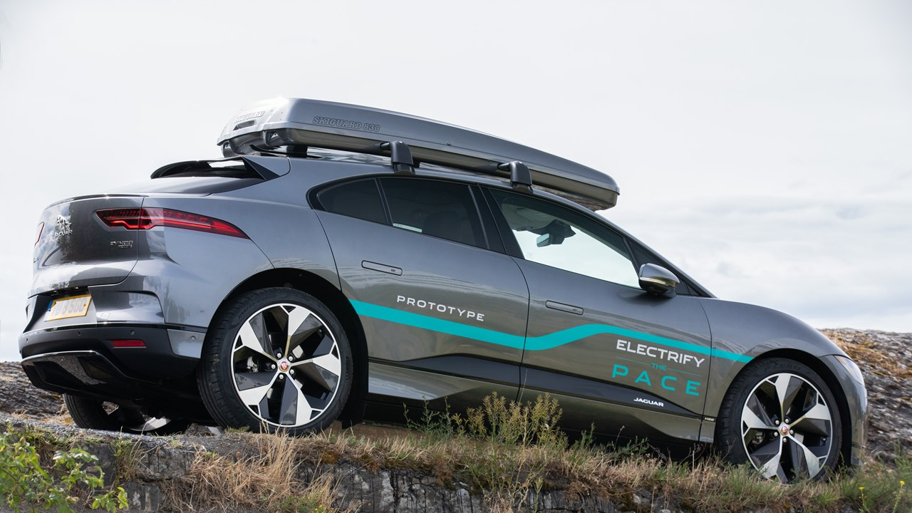 Jaguar I-PACE, with Skiguard 830 Touring